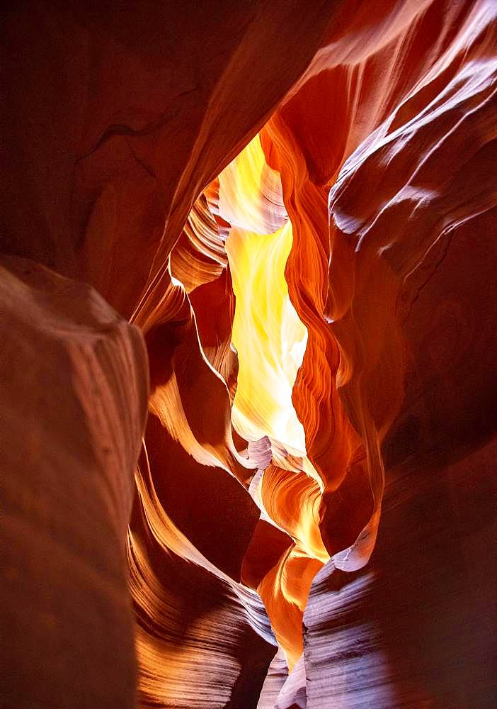 Sandstone Formations in Sandstone Canyon, Slot Canyon, Sandstone Rock, Upper Antelope Canyon, Page, Navajo Nation Reservation, Arizona, USA, North America