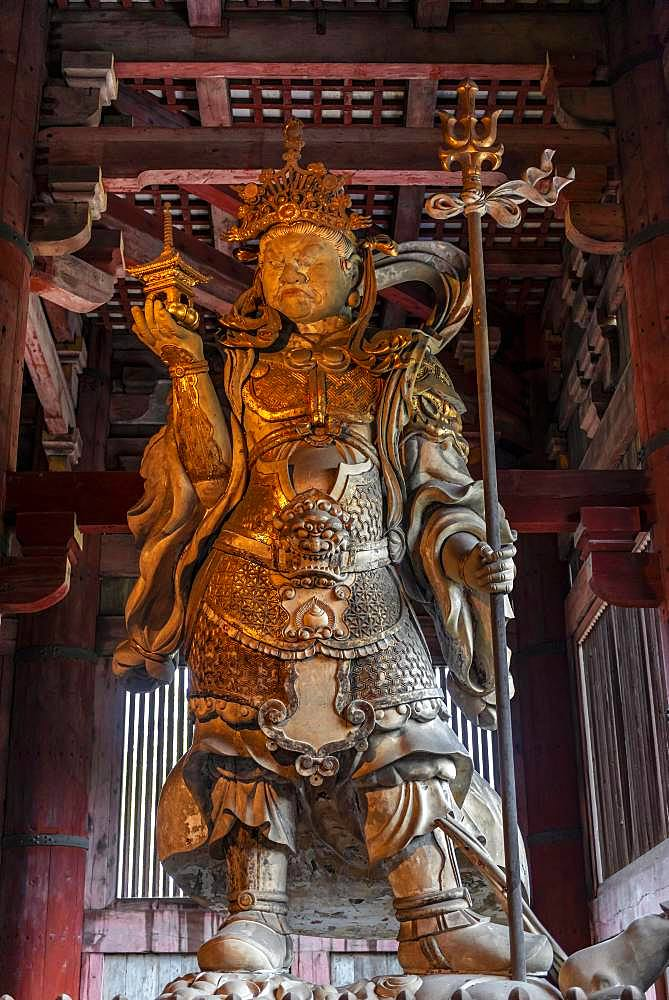 Bishamonten, Guardian of the Temple, Todaiji Temple, Buddhist Temple, Nara, Japan, Asia