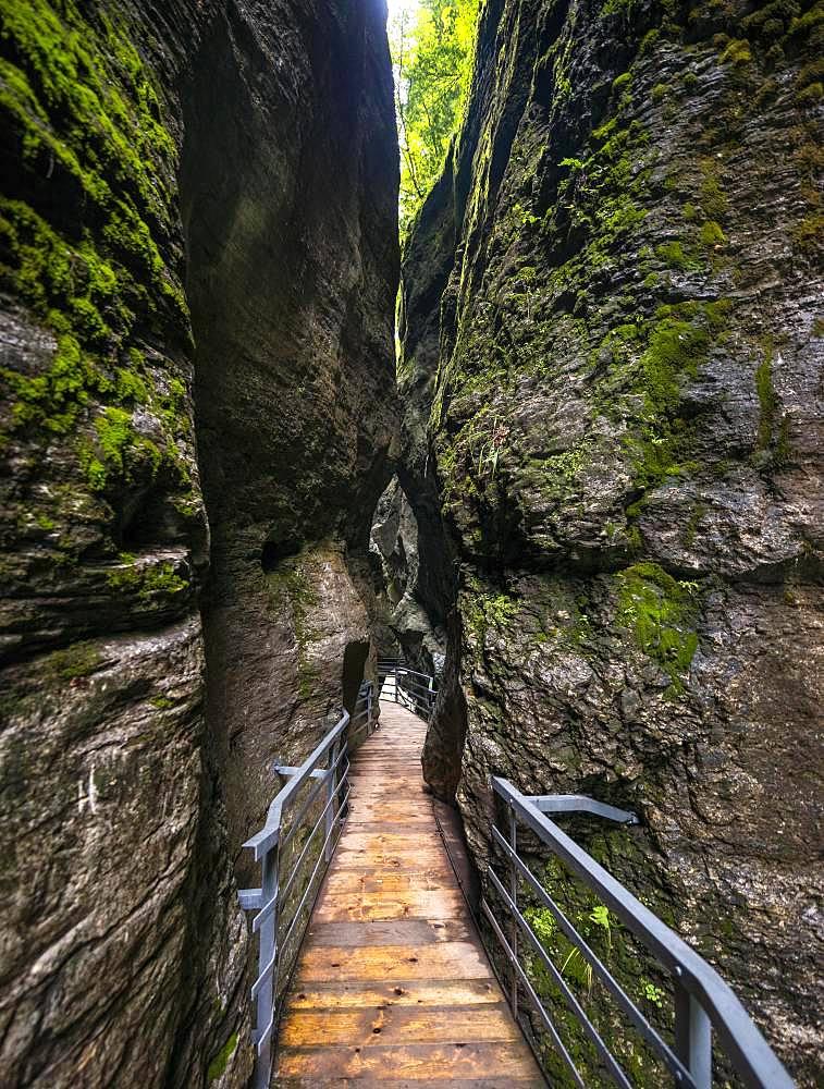 Aare Gorge at Haslital valley or Hasli Valley, Berner Oberland, Meiringen, Canton of Bern, Switzerland, Europe