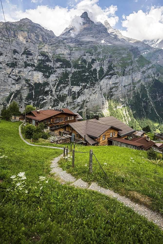 Gimmelwald, Lauterbrunnen Valley, Lauterbrunnen, Jungfrau-Aletsch-Bietschhorn World Heritage Site, Canton of Bern, Bernese Oberland, Switzerland, Europe