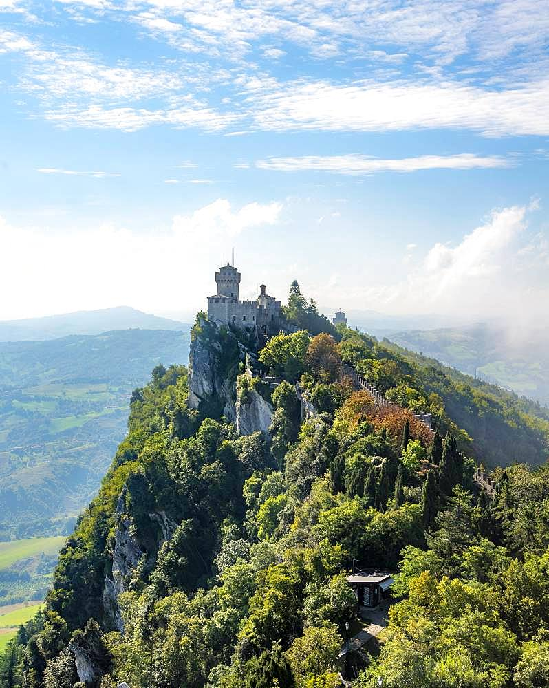 Torre Falesia, Seconda Torre, old watch tower, Monte Titano, San Marino, Europe