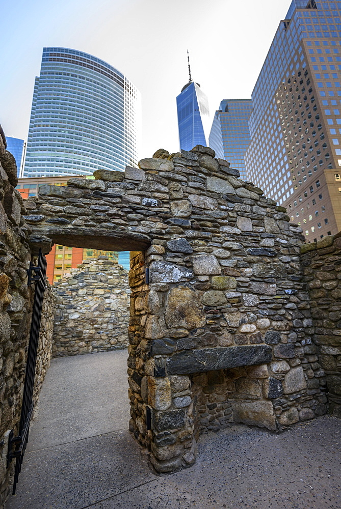 Irish Hunger Memorial, Memorial, Battery Park, Manhattan, New York City, New York, USA, North America
