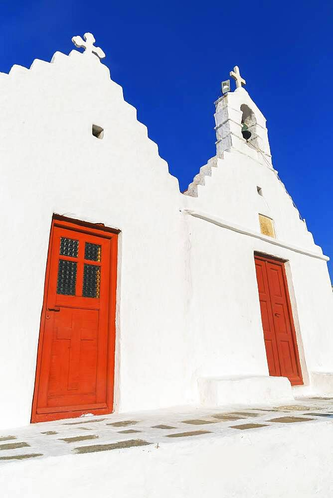 Greek orthodox chapel, Mykonos Town, Mykonos, Cyclades Islands, Greece, Europe