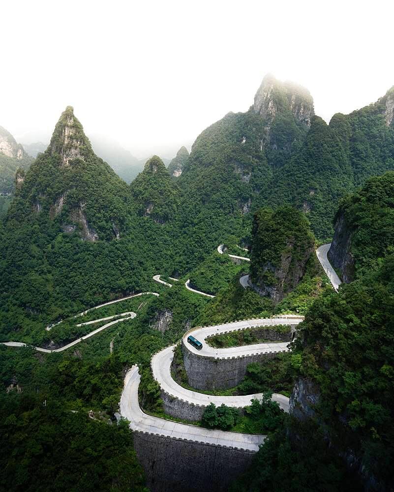 Road up to Tianmen Mountain, China, Asia - 832-388886