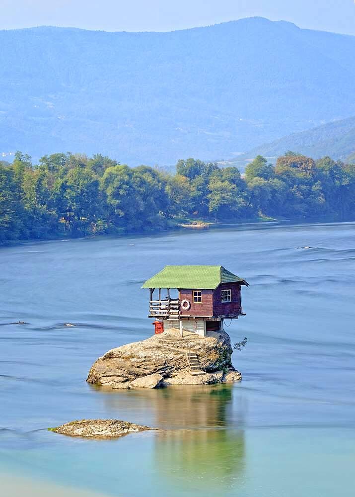 House on the River Drina, Bajina Basta, Serbia, Europe - 832-389269