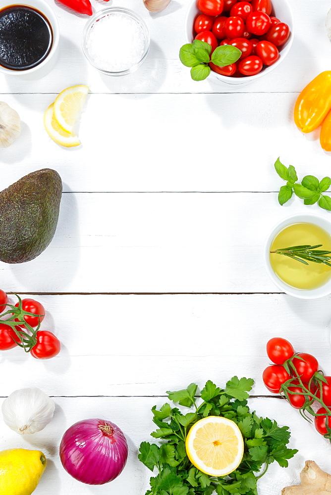 Healthy vegan diet vegan healthy background organic text free space clean eating food on wooden board - 832-390424