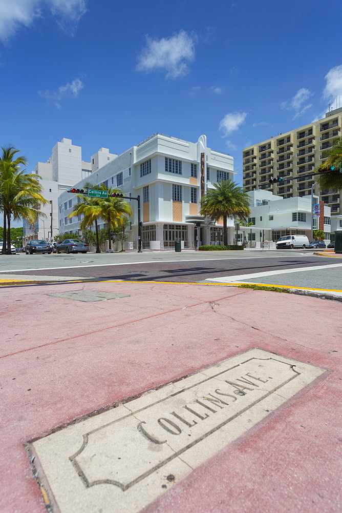 Art Deco architecture on Collins Avenue, South Beach, Miami Beach, Miami, Florida, United States of America, North America