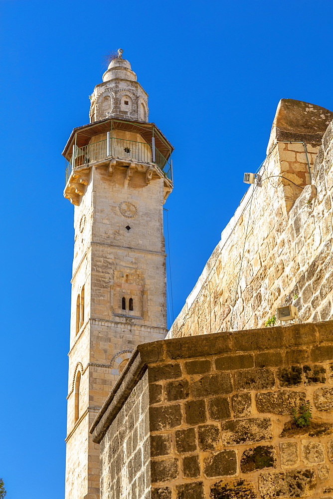 View of Mosque of Omar in Old City, Old City, UNESCO World Heritage Site, Jerusalem, Israel, Middle East - 844-19266
