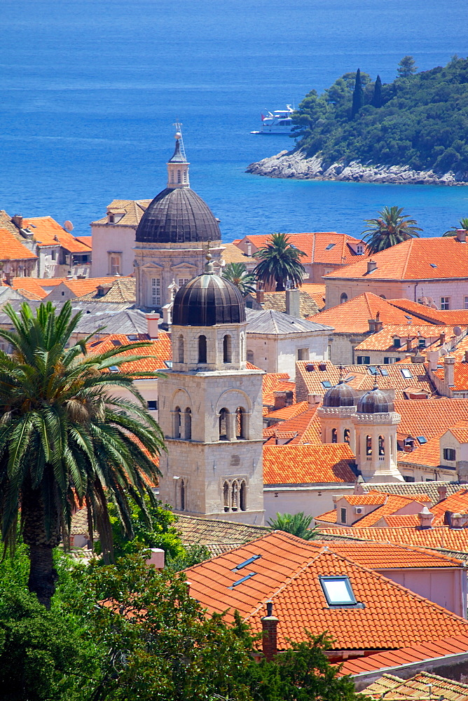 View over Old Town, UNESCO World Heritage Site, Dubrovnik, Dalmatia, Croatia, Europe