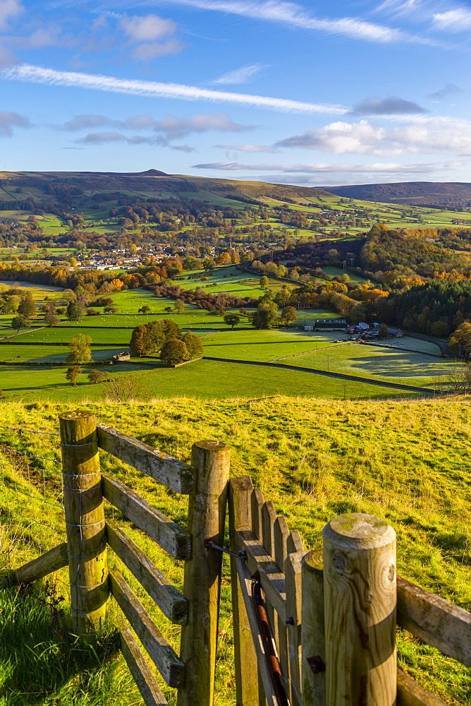 View of Hope in the Hope Valley, Derbyshire, Peak District National Park, England, United Kingdom, Europe