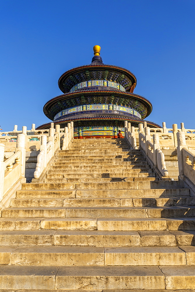 The Hall of Prayer for Good Harvests in the Temple of Heaven, UNESCO World Heritage Site, Beijing, People's Republic of China, Asia - 844-21866