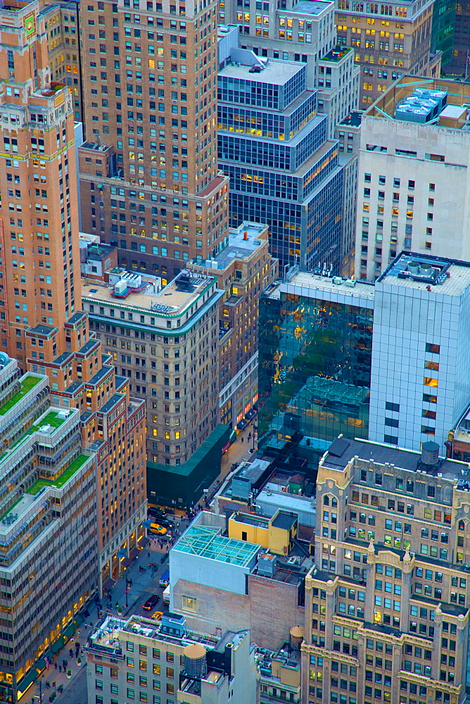 Lower Manhattan from Top of The Rock, New York, United States of America, North America