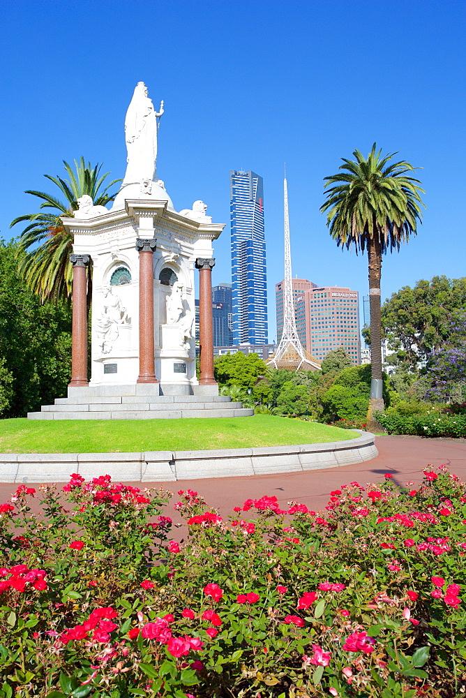 Queen Victoria statue, Queen Victoria Gardens, Melbourne, Victoria, Australia, Pacific