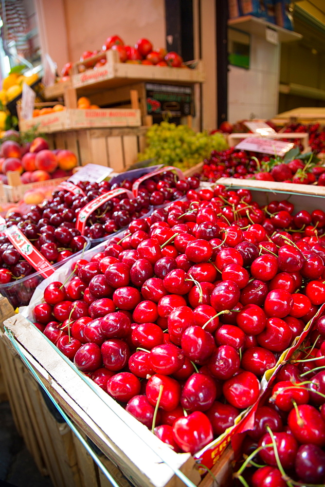 Fruit stall on Via C Cesario, Sorrento, Campania, Italy, Europe