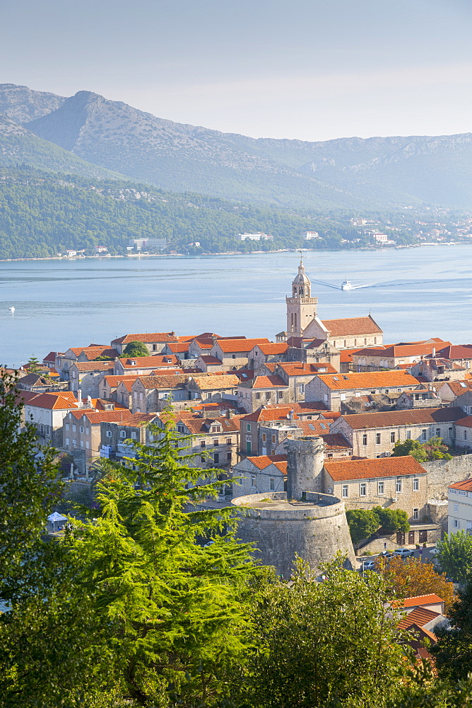 View of Korcula Town, Korcula, Dalmatia, Croatia, Europe