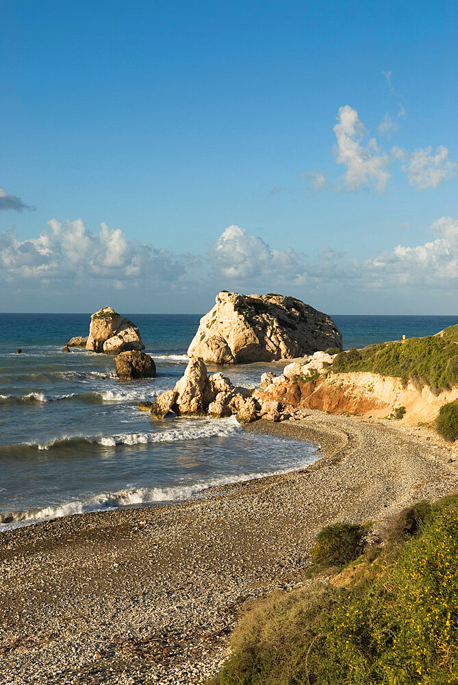 Aphrodite's Rock, Paphos, UNESCO World Heritage Site, South Cyprus, Cyprus, Mediterranean, Europe - 846-1025
