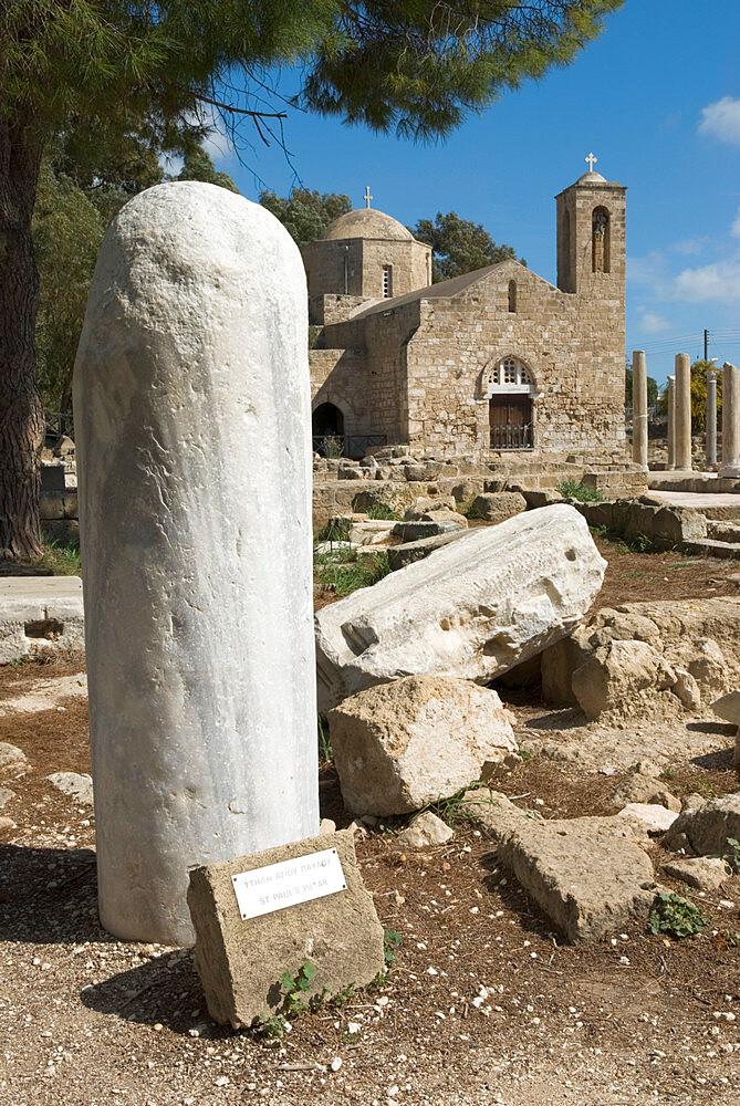St. Paul`s Pillar and Agia Kyriaki, Paphos, UNESCO World Heritage Site, Cyprus, Europe - 846-1057