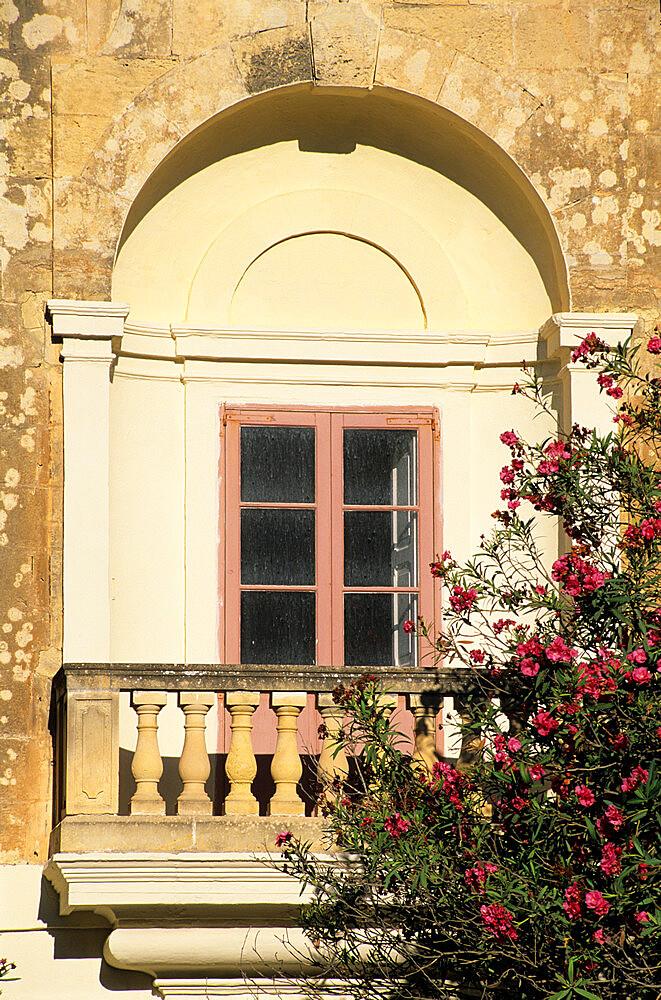 Close up of window, Mdina, Malta, Mediterranean, Europe - 846-150