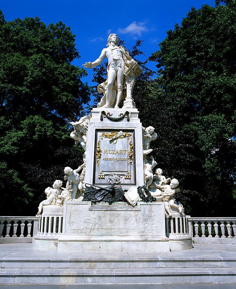 Statue of Mozart, Vienna, Austria, Europe - 846-258