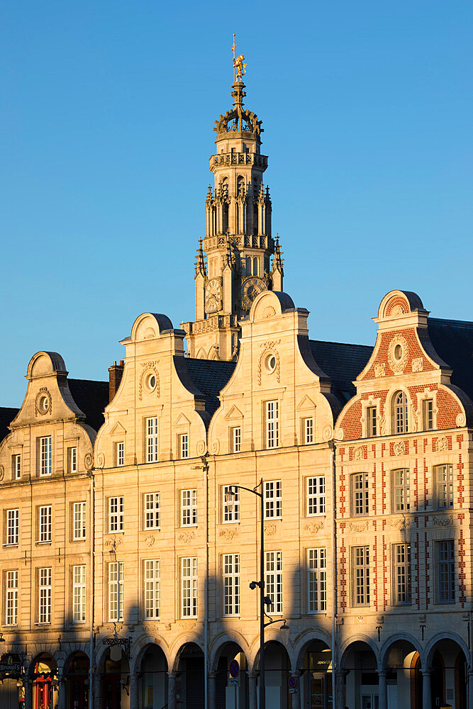 Flemish style facades on Grand Place, Arras, Pas-de-Calais, Hauts-de-France region, France, Europe - 846-2917