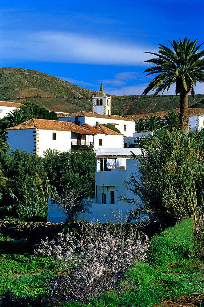 View over village, Betancuria, Fuerteventura, Canary Islands, Spain, Europe - 846-381