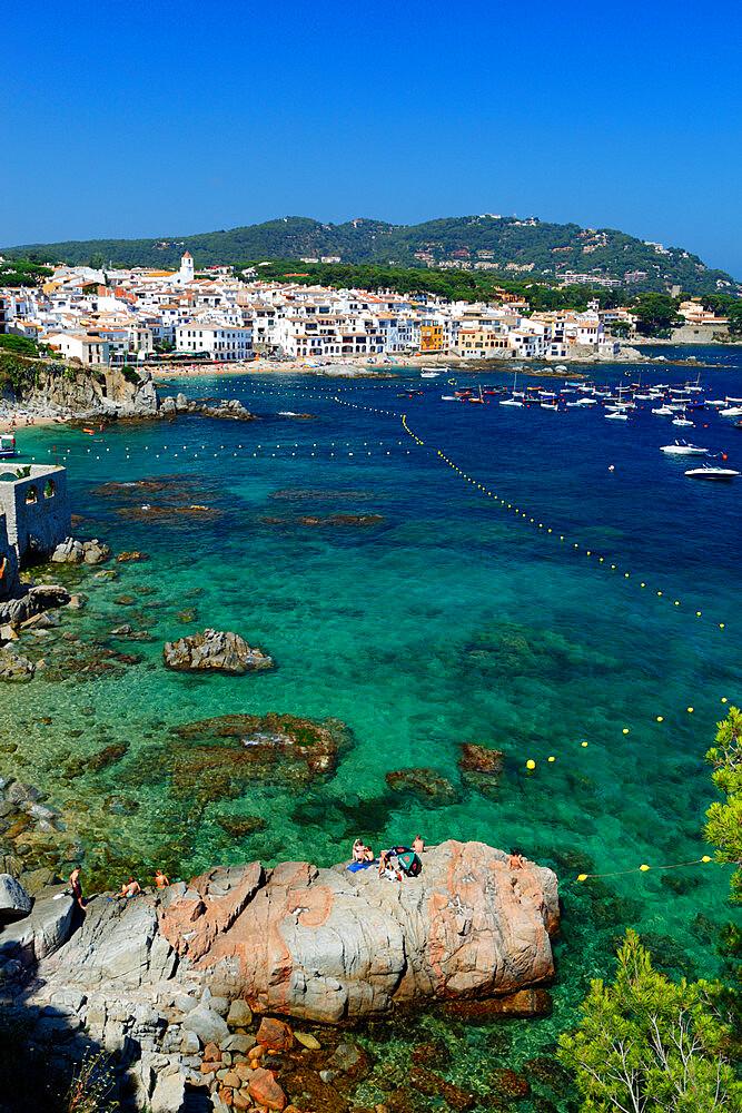 Calella de Palafrugell and Cap de St. Sebastia, Costa Brava, Catalonia, Spain, Mediterranean, Europe - 846-736