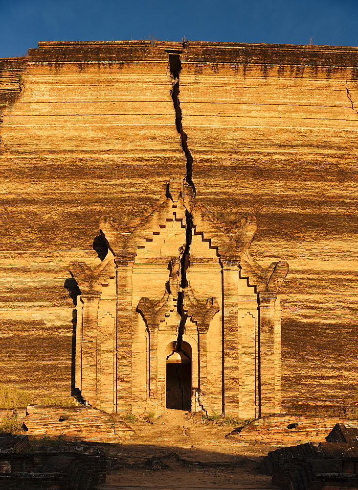 Exterior of Mingun Paya, Mingun, Mandalay Region, Myanmar (Burma), Asia