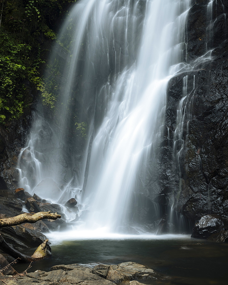 Waterfall, Sinharaja Rainforest National Park, Deniyaya, Southern Province, Sri Lanka, Asia
