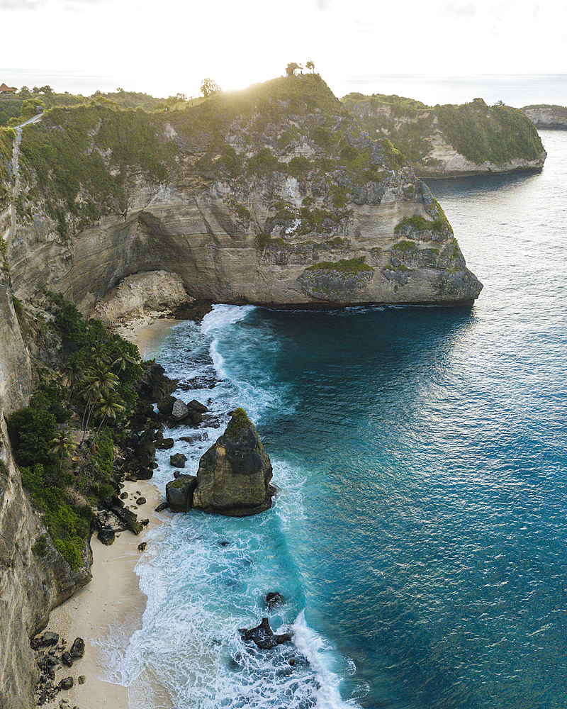 Aerial view of Diamond Beach, Klungkung, Nusa Penida, Bali, Indonesia, Southeast Asia, Asia