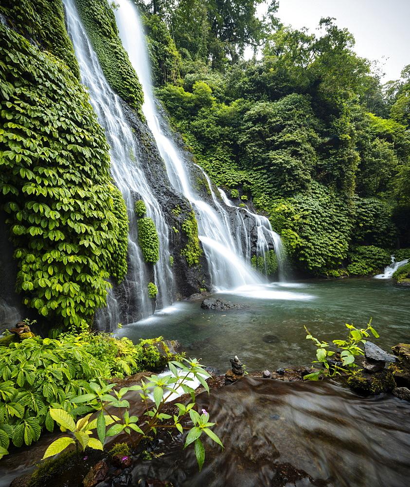Banyumala Twin Waterfalls, Wanagiri, Buleleng, Bali, Indonesia, Southeast Asia, Asia