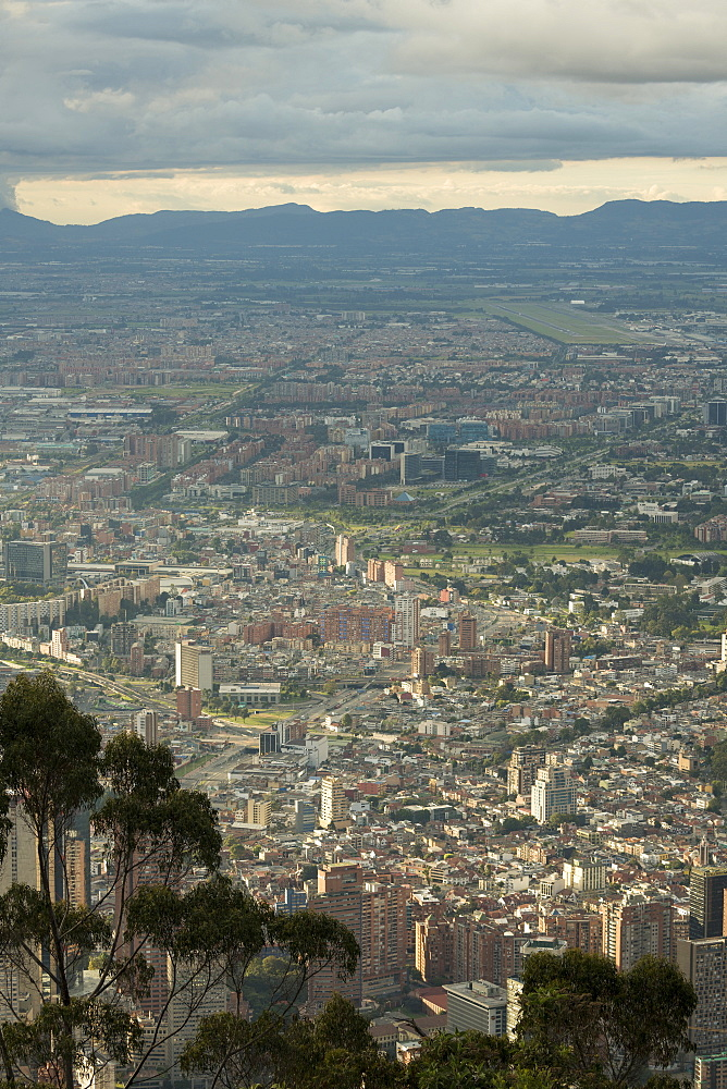 View from Cerro Monserrate, Bogota, Cundinamarca, Colombia, South America - 848-2163