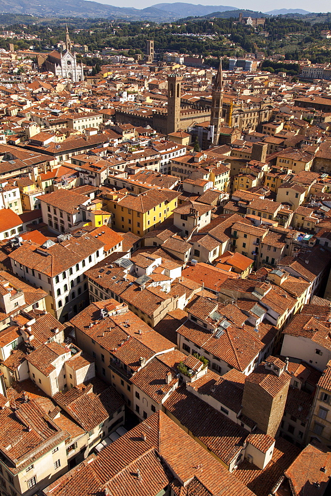 Roof tops of Florence, Italy, Tuscany, Europe - 851-538