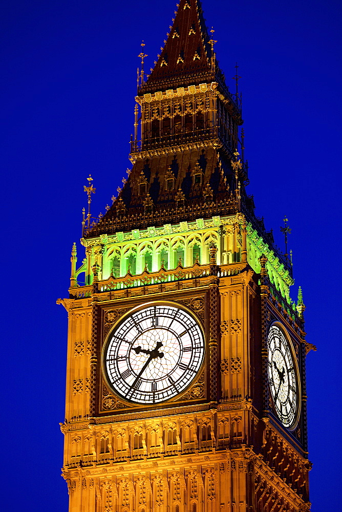 Big Ben at twilight in Westminster, London, England, United Kingdom, Europe - 851-602