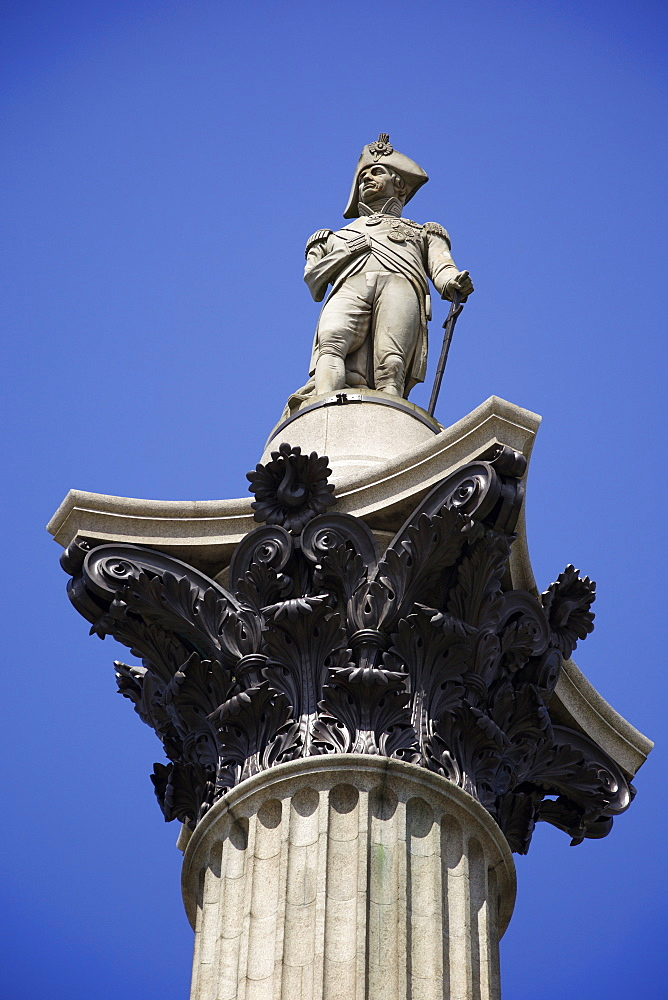 Nelson's Column in Trafalgar Square, London, England, United Kingdom, Europe - 851-603