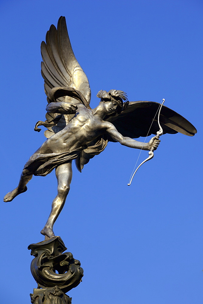 Eros statue in Piccadilly Circus, London, England, United Kingdom, Europe - 851-614