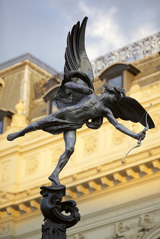 Eros statue in Piccadilly Circus, London, England, United Kingdom, Europe - 851-615