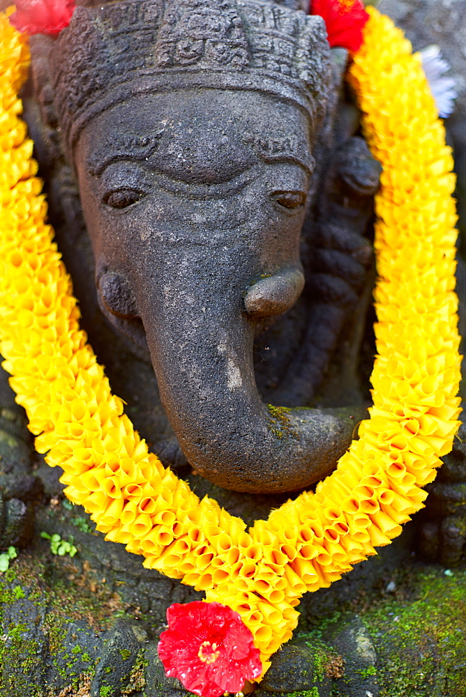 Decorated Ganesh statue in Ubud, Bali, Indonesia, Southeast Asia, Asia