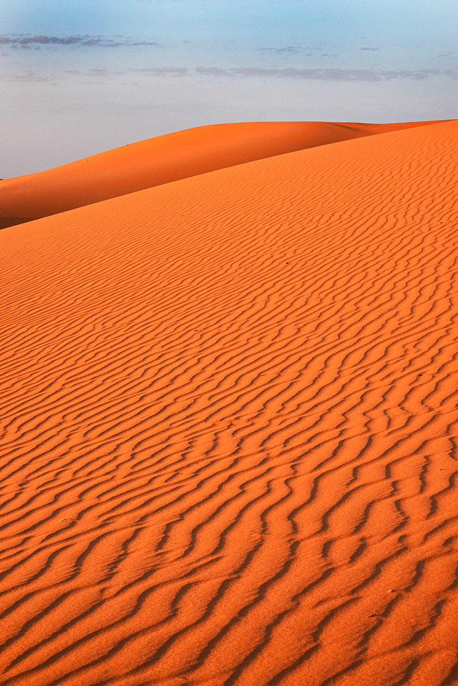Desert sand ripples, Morocco, North Africa, Africa