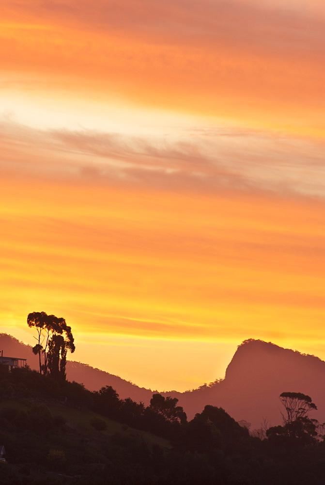 Sunset over the Dial Range, Penguin, Tasmania, Australia - 994-25