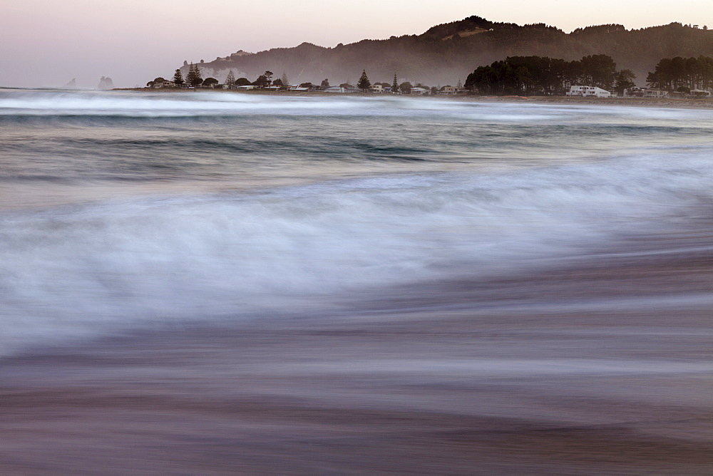 Sunset over bay, New Zealand, North Island, Coromandel Peninsula