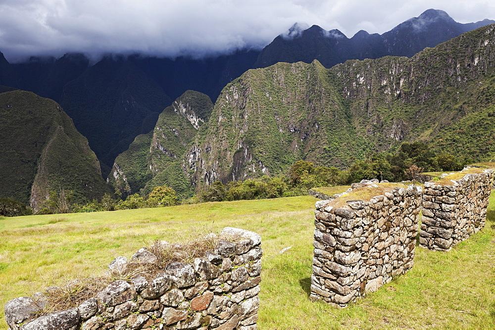 View to Machu Picchu, Peru, Urubamba Province, Cusco, Machu Picchu