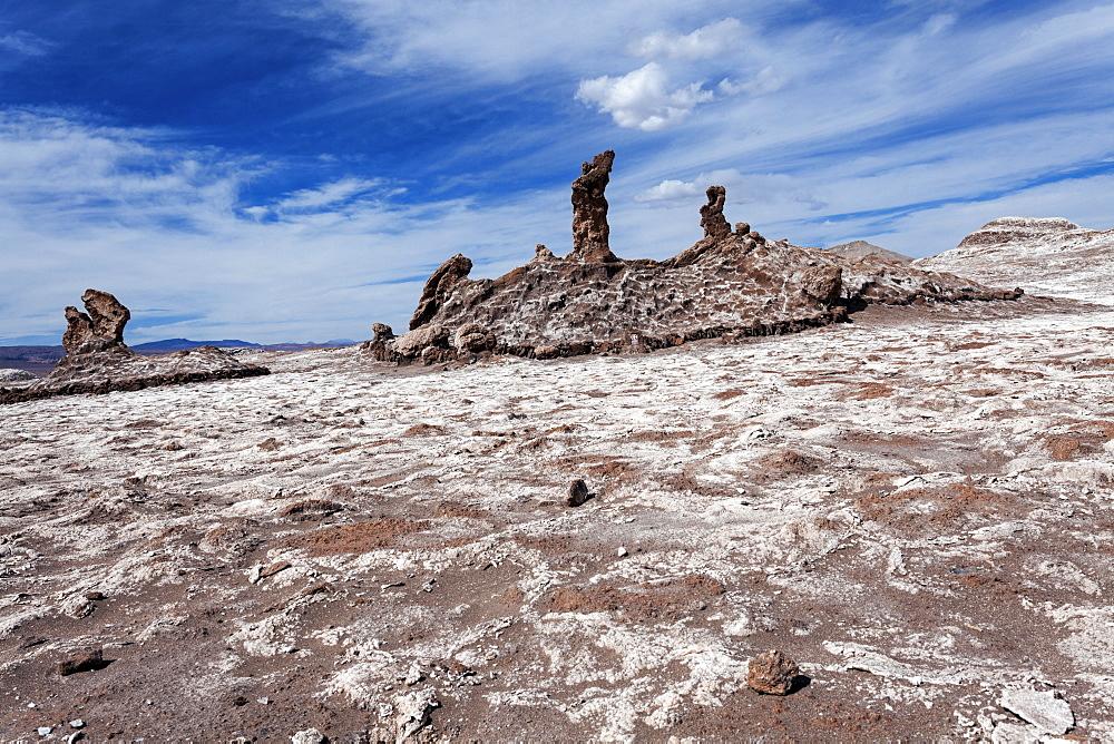 Rock formations, Chile, Antofagasta Region, Atacama Desert, Valle de la Luna