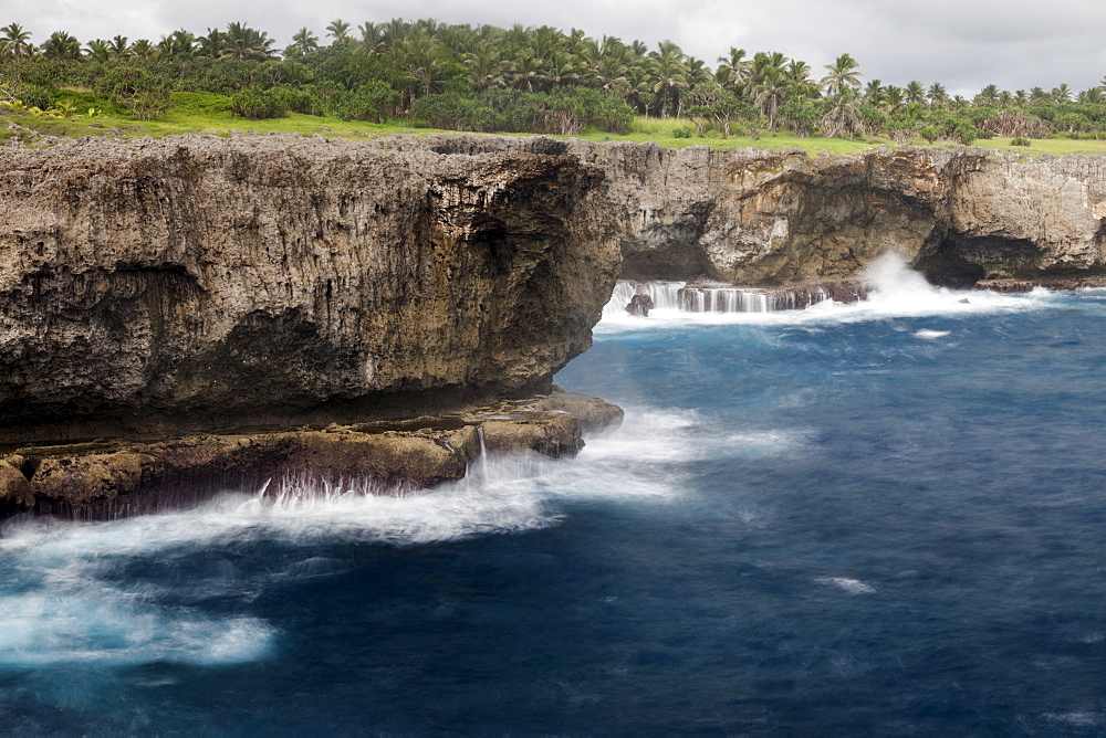 Cliffs on coast, Tonga, Tongatapu Island