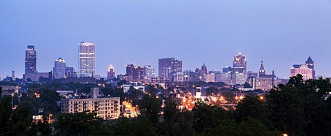 Panorama of city, Milwaukee, Wisconsin