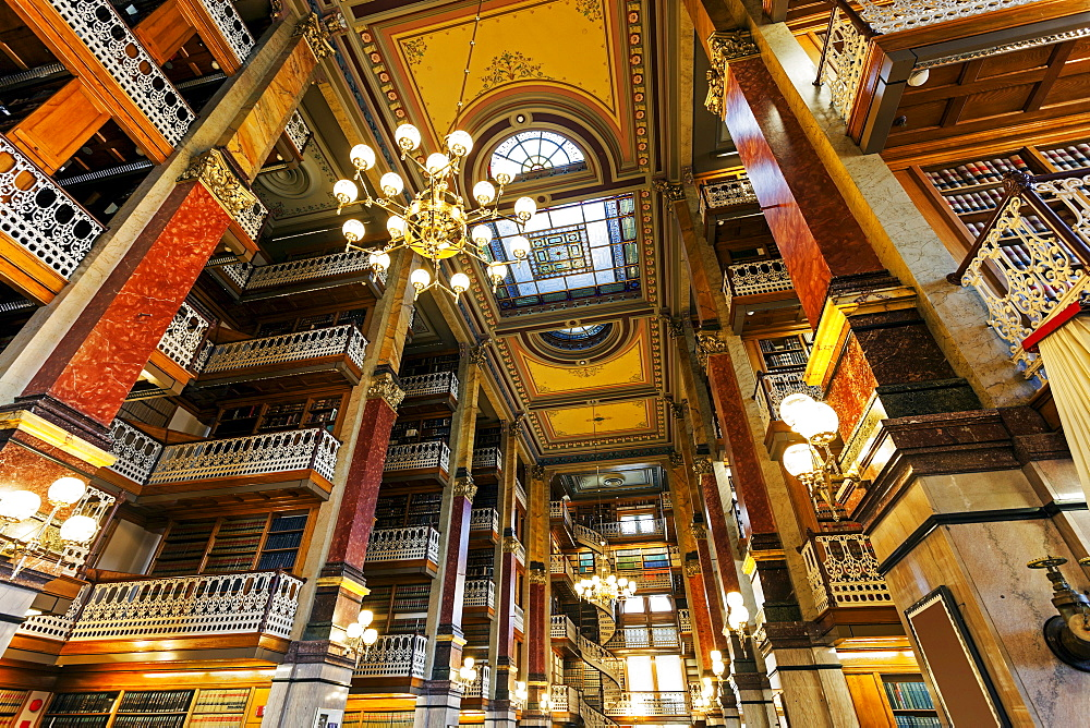 Old library in Iowa State Capitol, Des. Moines, Iowa