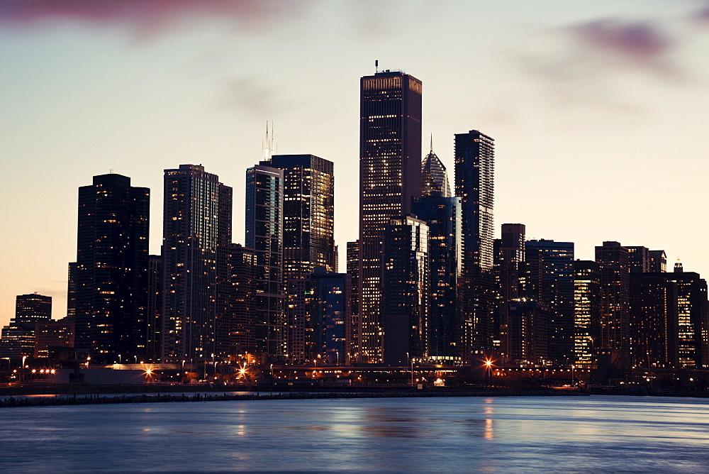 USA, Illinois, Chicago, City view, USA, Illinois, Chicago