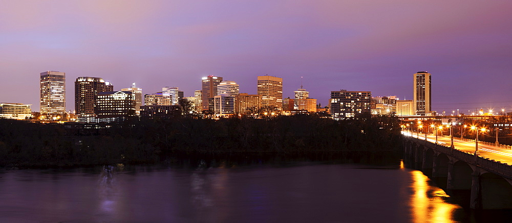 Cityscape at evening, Richmond, Virginia