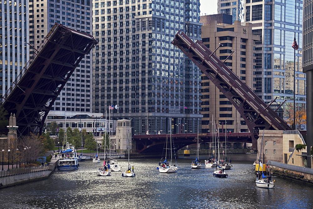 Michigan Avenue bridge, Chicago, Illinois