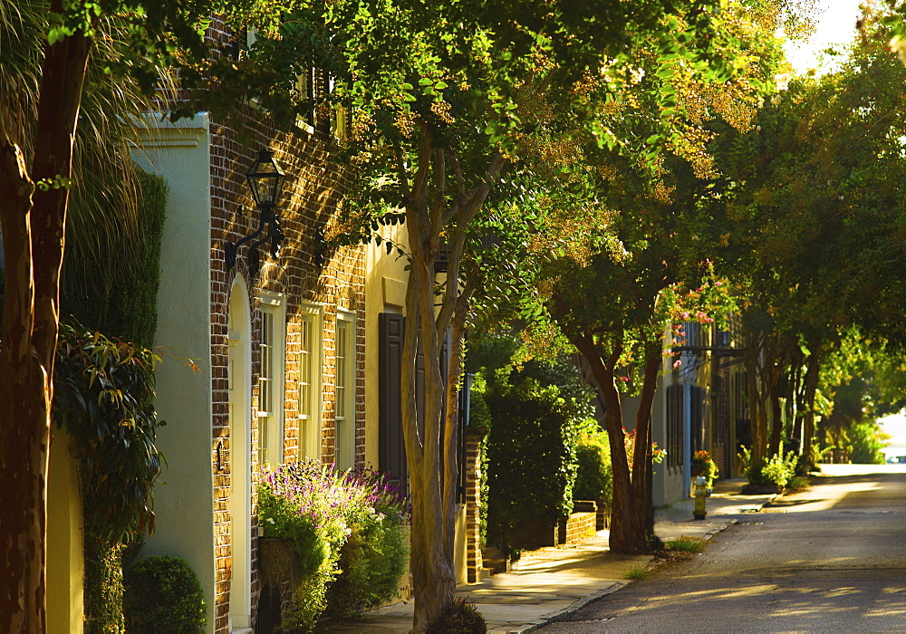 USA, South Carolina, Charleston, Quiet street