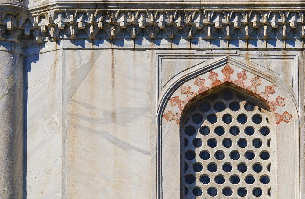 Turkey, Istanbul, Haghia Sophia window detail